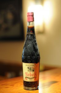 Malvasia Robert reserva 1900. Una de las botellas que se encuentra en el restaurante la Salseta