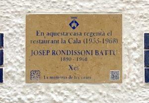 placa de Josep Rondissoni